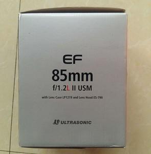 99新佳能 EF 85mm f/1.2 L II USM(大眼睛)UF编号 成色完美!