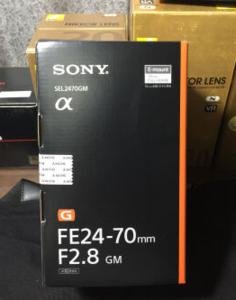 几乎全新索尼FE 24-70mm f/2.8 GM出售