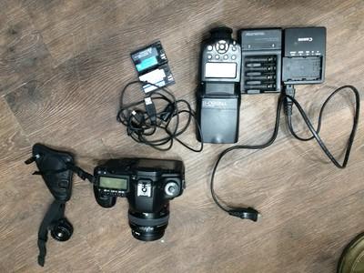 自用国行无拆机99新5DMark II+501.4镜头送电池 灯 包