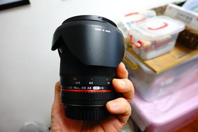 三阳(威摄贴牌行货) 佳能口16mm 2.0 大口径 广角镜头