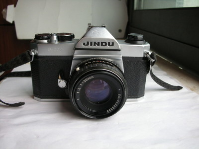 很新金都S207M单反相机带50mmf2镜头,设计无测光,收藏使用