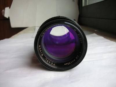 很新珠江135mm金属制造镜头,MD卡口,有皮筒,说明书,收藏使用