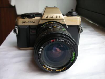 很新海鸥300G单反相机带28--70mm镜头,多次曝光、景深预测
