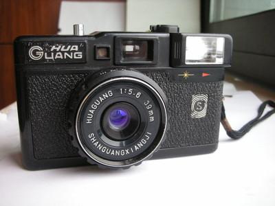 很新少见湖光牌自动曝光相机,定焦镜头,送挂绳