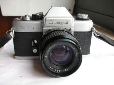 很新海鸥DF--1ETM金属制造单反相机带58mmf2镜头,收藏使用