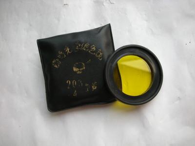 较新海鸥 30.5MM 中黄镜片,可配所有国产双镜头相机,送镜套
