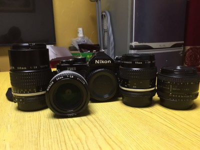 Nikon FM2+短中长四只镜头