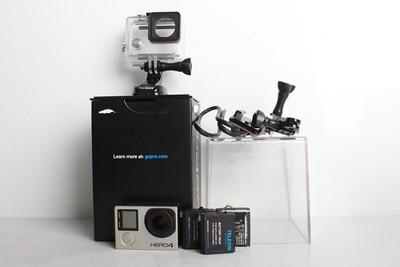 95新二手 GoPro Hero4 黑狗4 银色 水下防水运动型摄像机B95150津