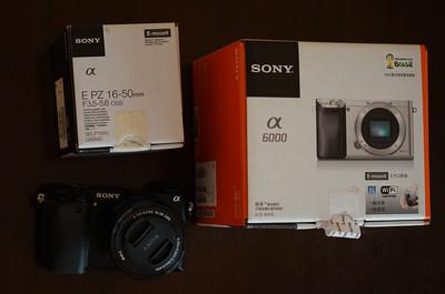 出一手自用国行索尼 ILCE-6000相机+E PZ16-50镜头