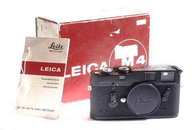 全新收藏品徕卡 M4 黑色机身带原装对号盒子 #HK7470