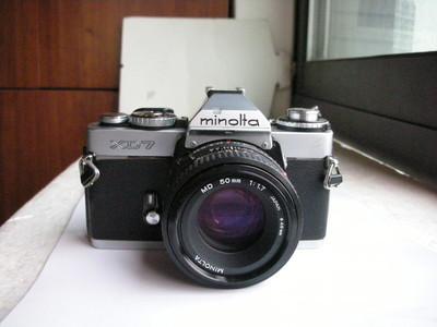 很新美能达XD7金属制造单反相机带50mmf1.7镜头,收藏使用