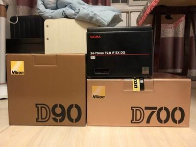尼康 D700,D90,适马24-70二代,打包出