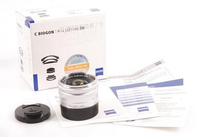 【全新】蔡司C Biogon T* 21/4.5 ZM 银色 #HK7505X