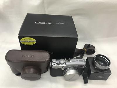 富士 X100 定焦复古造型数码相机送厂皮套原厂遮光罩