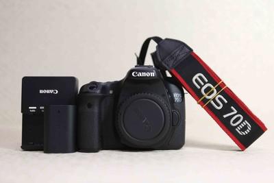 94新二手 Canon佳能 70D 单机 中端单反相机(T06101)津