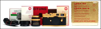 徕卡 Leica M4-2 + M 50/1.4 百年纪念金机 带包装
