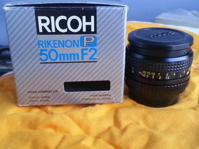 理光 RICOH 50mm F2 镜头 日本原装,带包装
