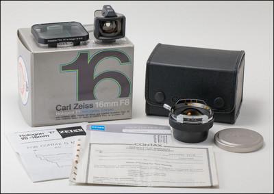 康泰时 Contax G 16/8 Hologon T* 带取景器 中灰镜 包装