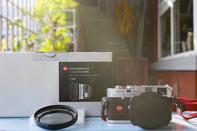 自用 Leica Summilux-M 24 mm f/ 1.4 Asph 包装齐全原厂滤镜接环