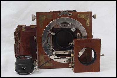 日本6寸木机+210/4.5镜头+快门组件