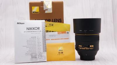 99新行货带包装尼康 AF-S 尼克尔 85mm f/1.4G 85/1.4