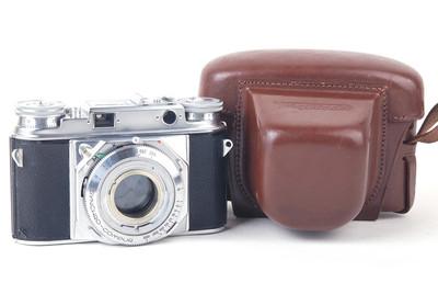 福伦达Prominent大眼睛银色机身胶片相机美品带皮套#jp19465