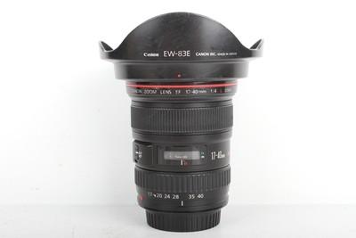 95新二手 Canon佳能 17-40/4 L USM 广角镜头(B95304)【津】