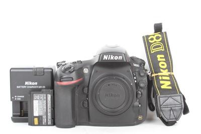 95新二手Nikon尼康 D800 单机 快门8700多次(B95337)【津】