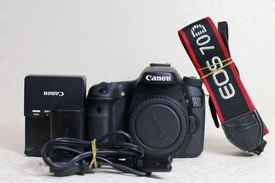 95新二手 Canon佳能 70D 单机 中端单反相机  T06330  津