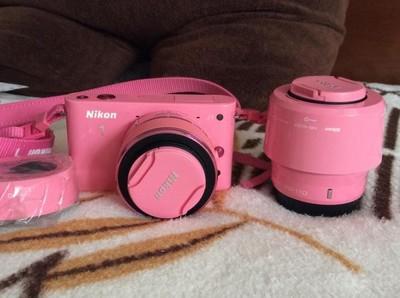 急出尼康NIKON限量版粉色J1双镜头10-30mm30-110mm套机