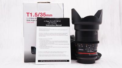 99新带包装三阳 35mm T1.5 II(佳能口) 35/1.5T二代