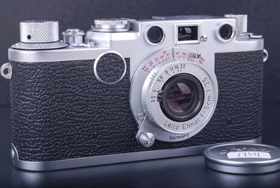 徕卡 IIF+50/3.5 L 红盘缩头 L39螺口 1955年#hk7593