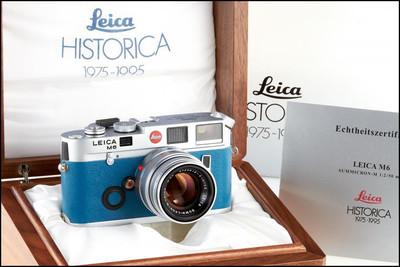 徕卡 Leica M6 Historica 海蓝色 纪念套机 带包装