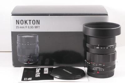 98/福伦达 25mm F0.95 镜头 成色不错 ( 全套包装 ) M43卡口