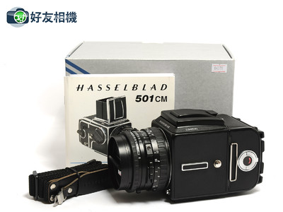 哈苏 501C/M相机黑色 连CB 80mm镜头,A12背,D型增亮对焦屏 *如新*