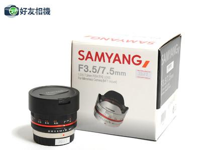 三阳/Samyang 7.5mm F/3.5 鱼眼镜头 微距 m4/3卡口 *如新连盒*