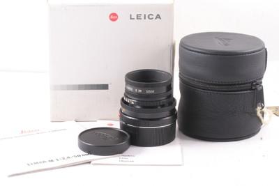 98/徕卡Leica Elmar-M 50mm/2.8 缩头黑色 ( 全套包装 )