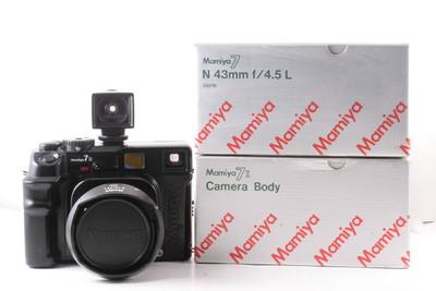 90/玛米亚Mamiya 7II+43F4.5 带取景器 ( 黑色 带包装 )