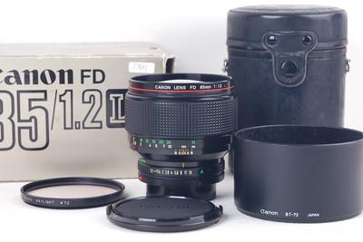 【美品】Canon/佳能 FD 85/1.2 L 带包装 遮光罩#jp19601