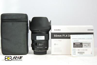 99新适马 50mm f/1.4尼康口国行带保卡(BH03130001)
