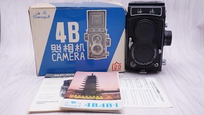 98新带包装日本出口版海鸥4B双反相机