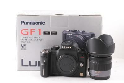 Panasonic松下 GH1+14-45套机  黑色 (英文版本 带包装)