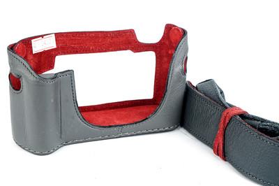 意大利LUIGI 徕卡 M8/M9用皮套手柄款连背带限定灰色#24327