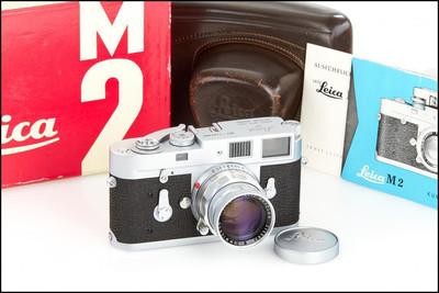 徕卡 Leica M2 + 50/2 Rigid 套机 带皮套 原盒 成色极新!
