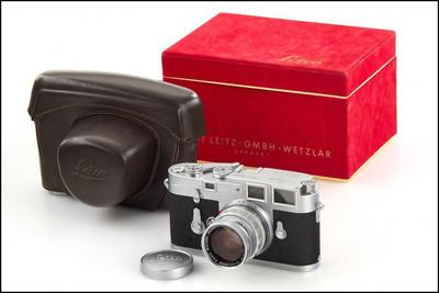 徕卡 Leica M3 双拨(L封)+ 50/2 Rigid 成色极新 带皮套 盒
