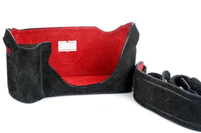 鹿皮【意大利LUIGI】徕卡M6/MP用皮套手柄款连背带 #27470