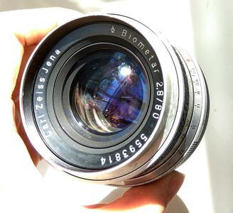 尼康口东德国蔡司Zeiss Jena Biometar 80 F2.8 P6中画幅手动镜头
