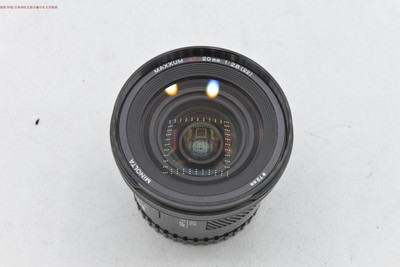 新到 95成新 美能达 20 2.8 索尼A卡口 广角镜头 可交换 编号9115