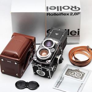 Rollei 禄来双反 2.8F 白脸 施耐德 Xenotar 80/2.8 原厂包装皮套