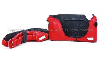 【意大利LUIGI】徕卡M8/M9用 红色 顶级手工皮套连背带